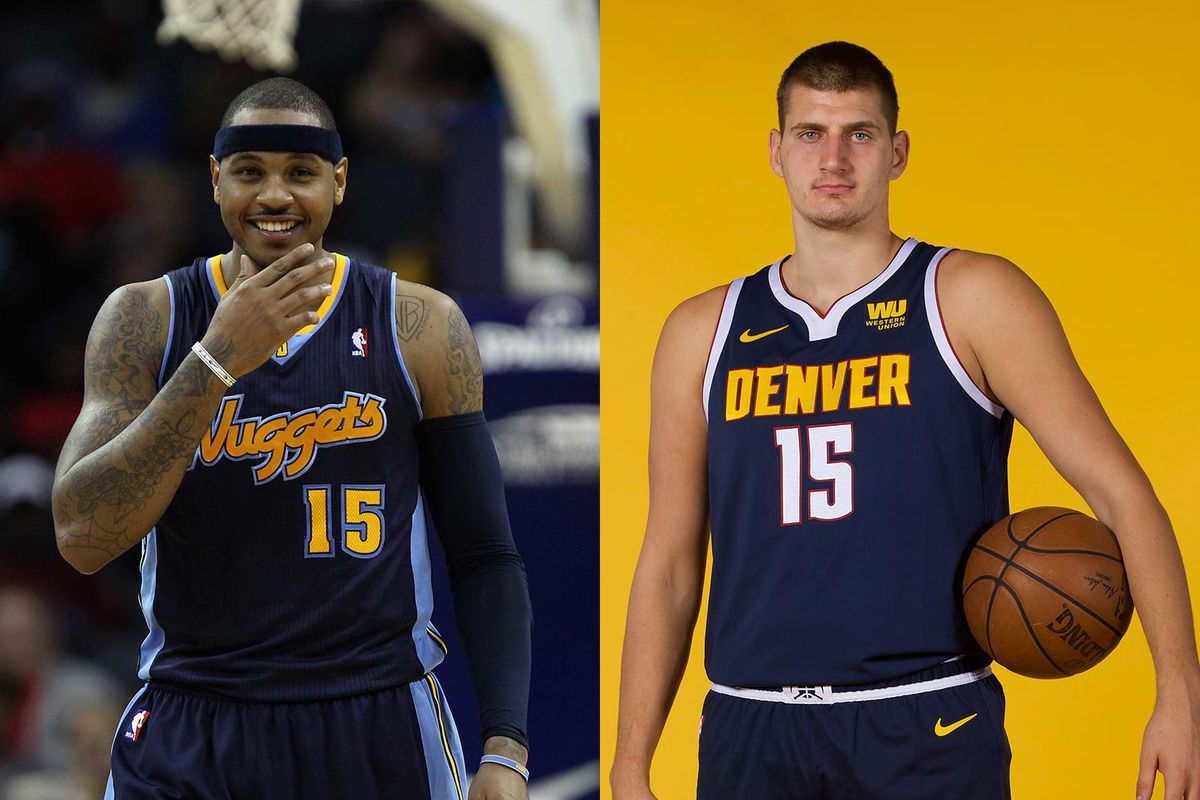 65f4fb6ad17 Denver Nuggets  Who wore it best  Carmelo Anthony vs. Nikola Jokic ...
