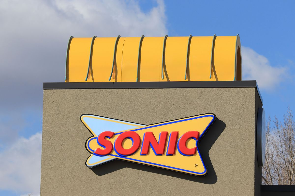 Close up of Sonic drive-in logo