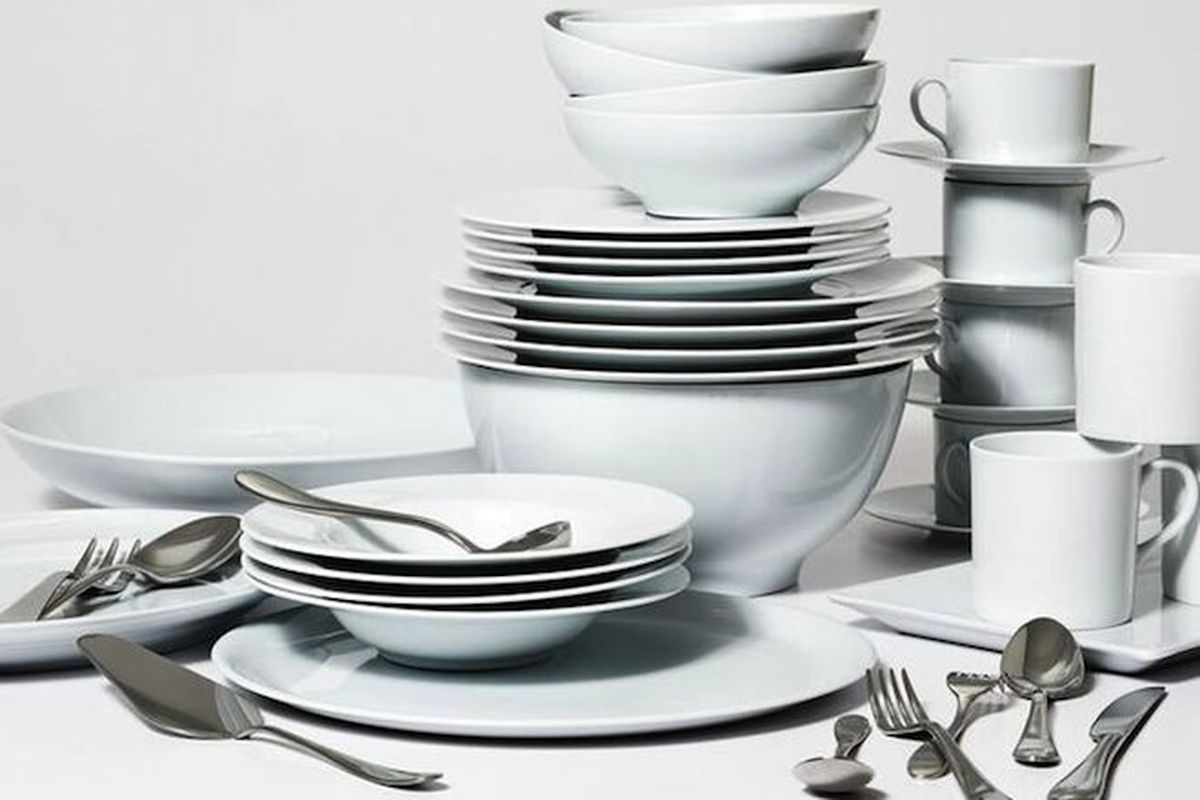 """The Complete Eat Set, $1,110 for eight settings—All photos via <a href=""""http://www.racked.com/2015/6/18/8800443/snowe-home#4771392"""">Racked</a>"""