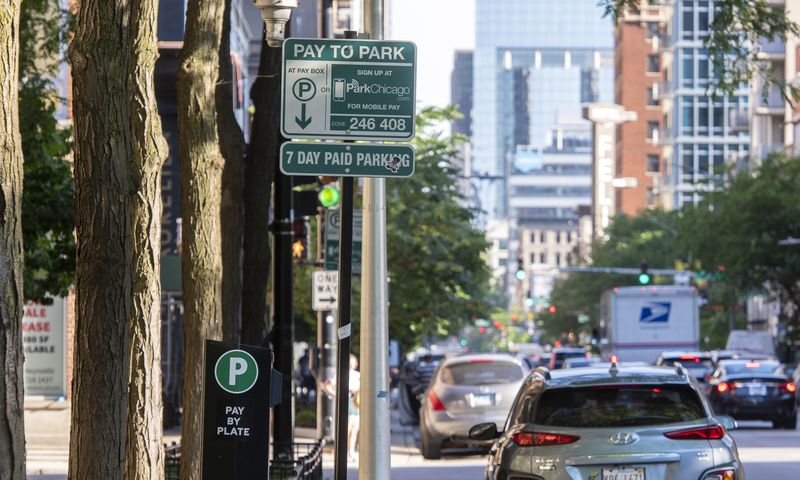 Parking on the 800 block of North Clark Street on Friday, June 4, 2021.