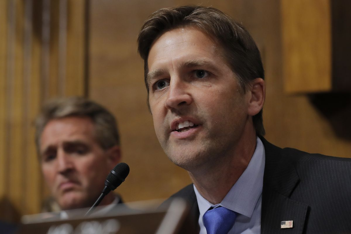 Sen. Ben Sasse, R-Neb., questions Supreme Court nominee Brett Kavanaugh as he testifies before the Senate Judiciary Committee on Capitol Hill in Washington Thursday, Sept. 27, 2018.
