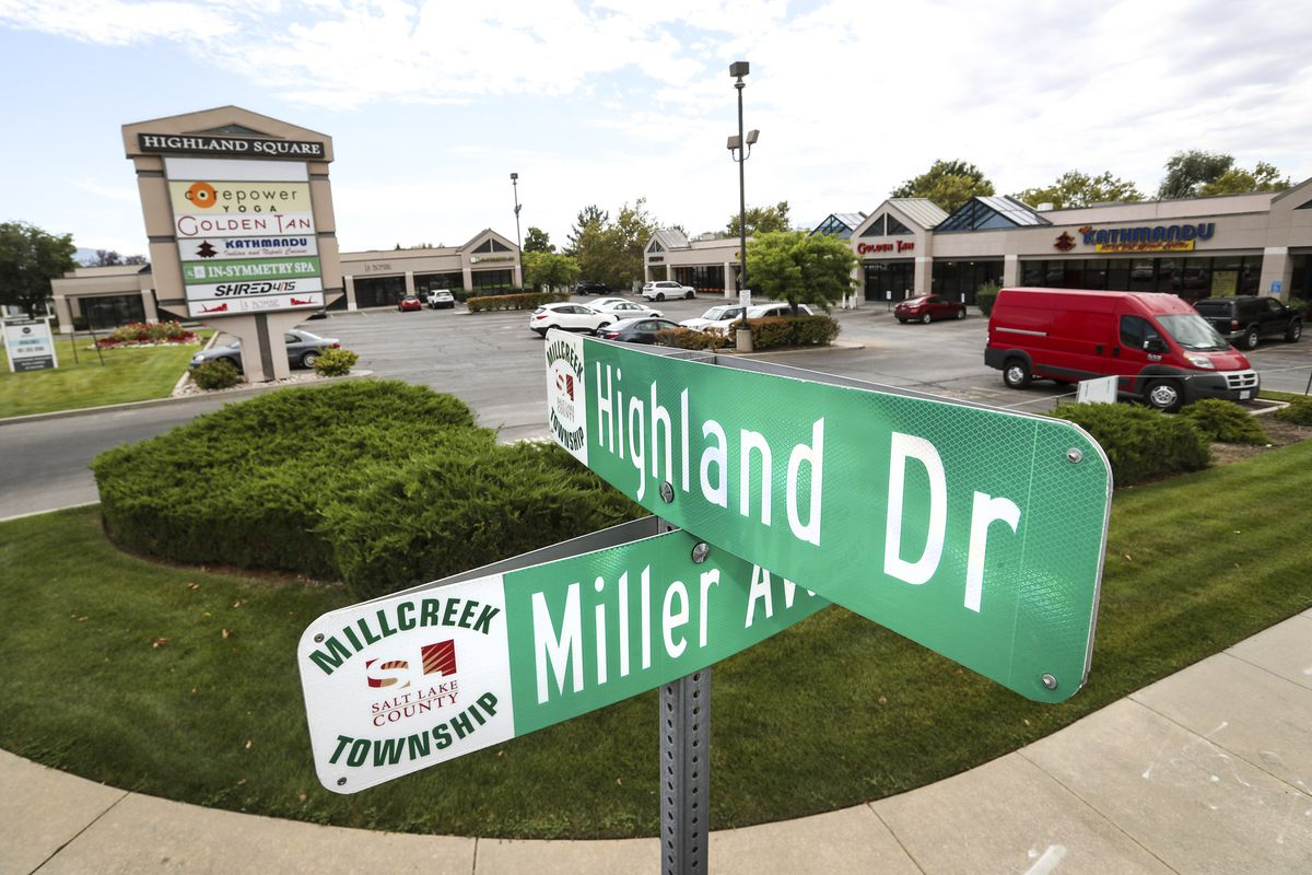 The intersection at Miller Avenue and Highland Drive in Millcreekis pictured on Tuesday, Sept. 3, 2019. Salt Lake City and Millcreek have announced a new boundary adjustment agreement, on this block between Woodland Avenue and Miller Avenue and 1300 East and Highland Drive, that facilitates Millcreek's city center plans and meets other mutual needs.