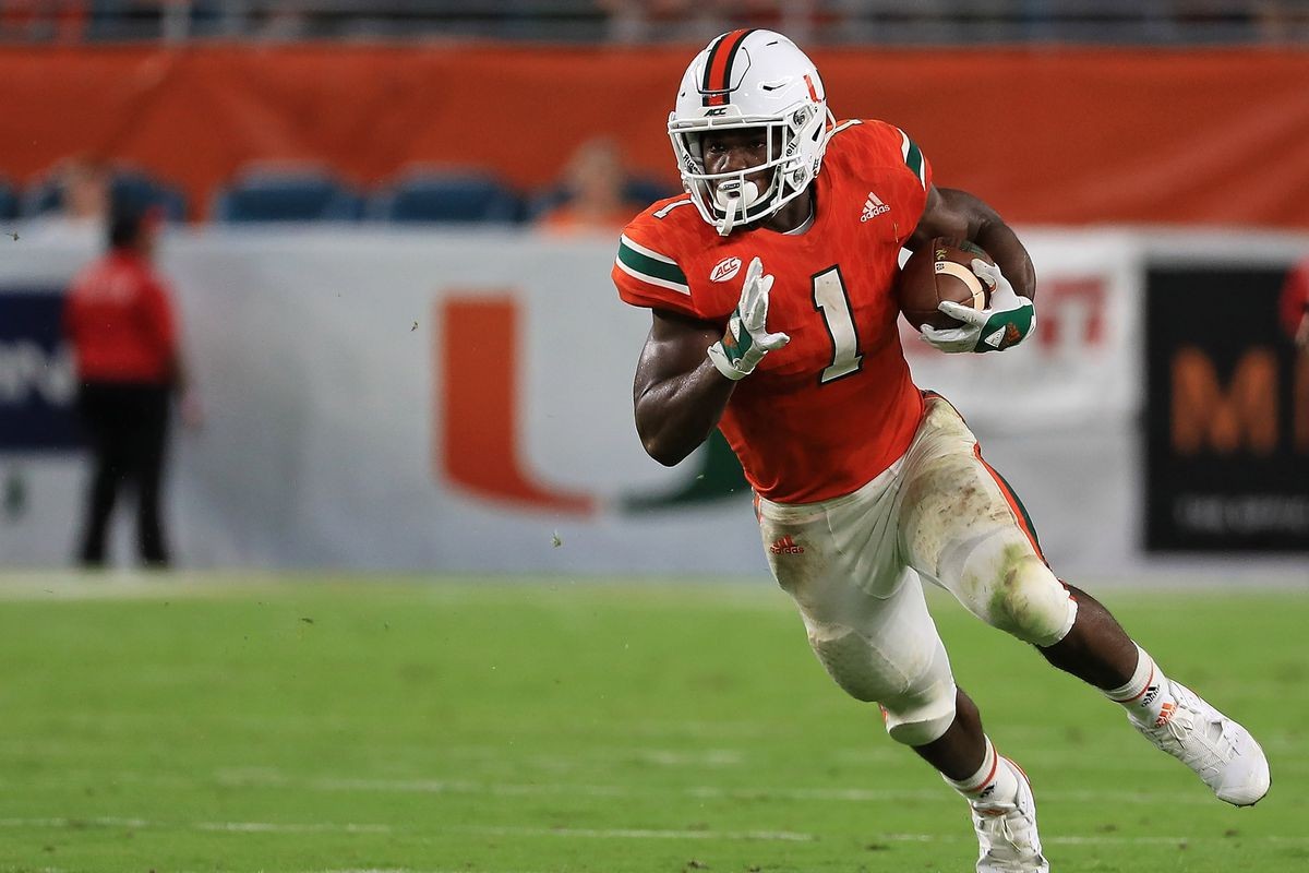 One Is Done Rb Mark Walton Declares For The 2018 Nfl Draft