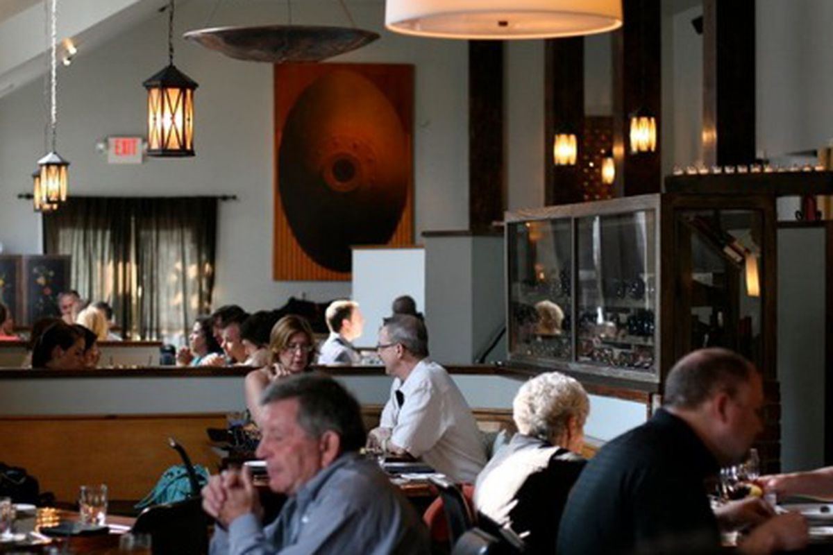 The dining room at Woodfire Grill