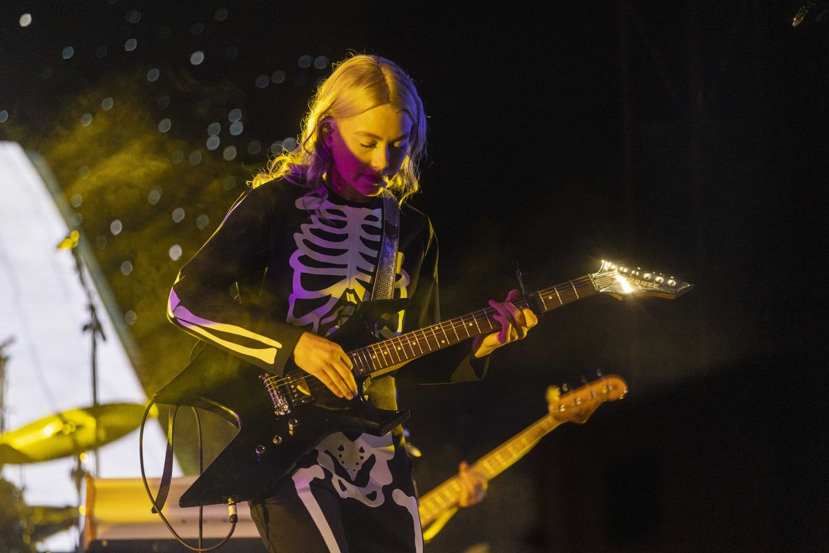 Phoebe Bridgers performs on day one of the Pitchfork Music Festival.
