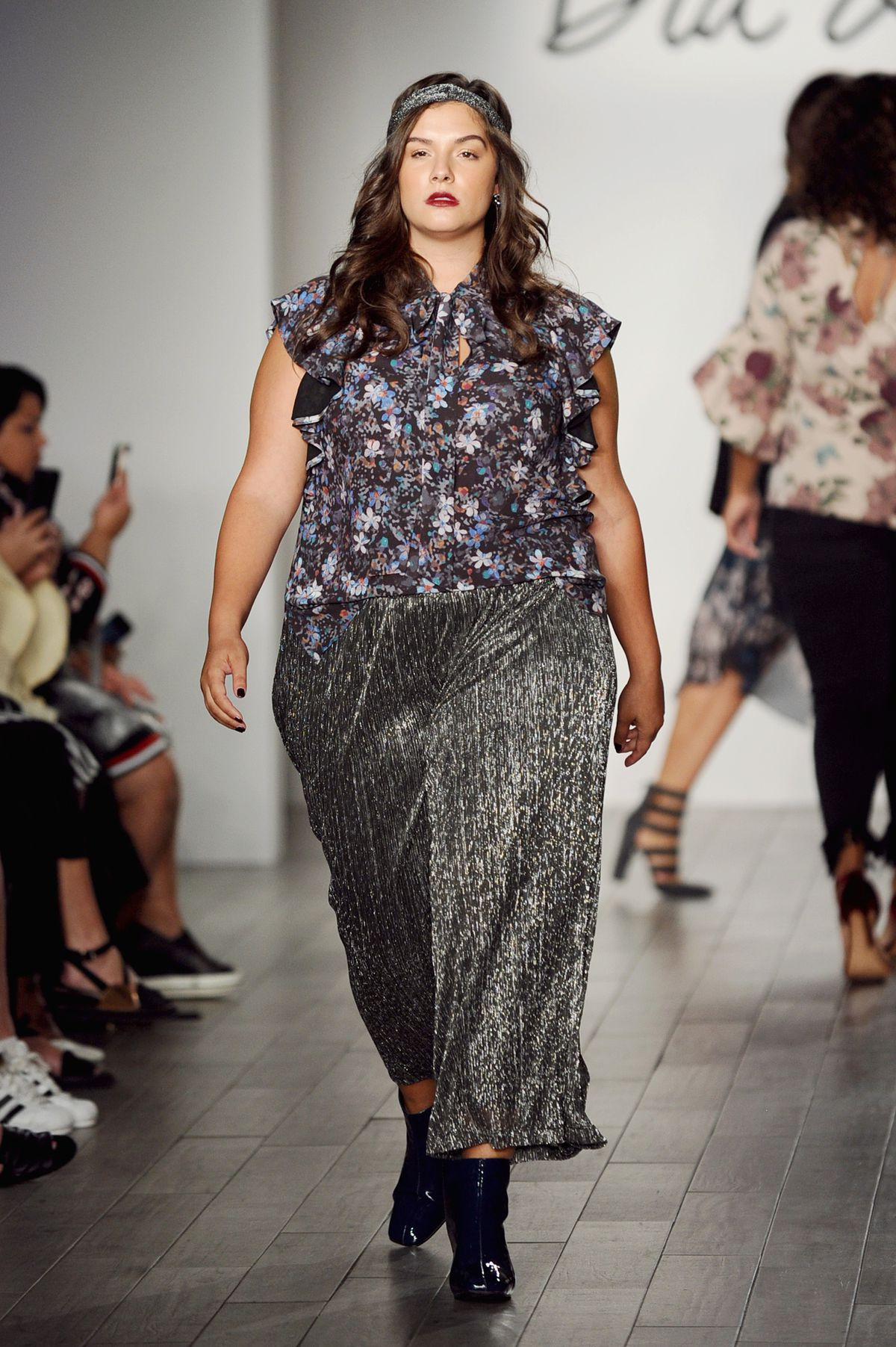 A plus-size model at the Dia & Co. fashion show