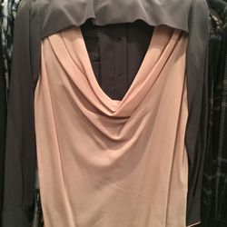 Cowl-back blouse, size 6, $150 (was $750)