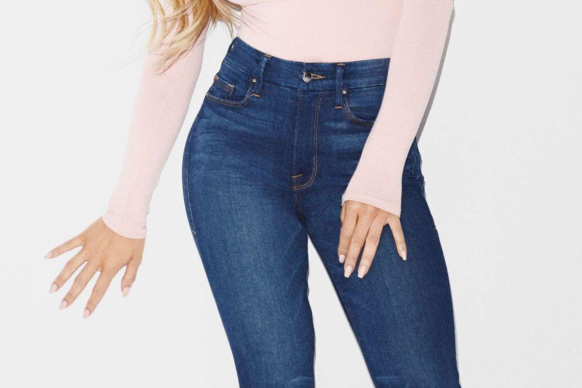Khloe Kardashian in Good American jeans