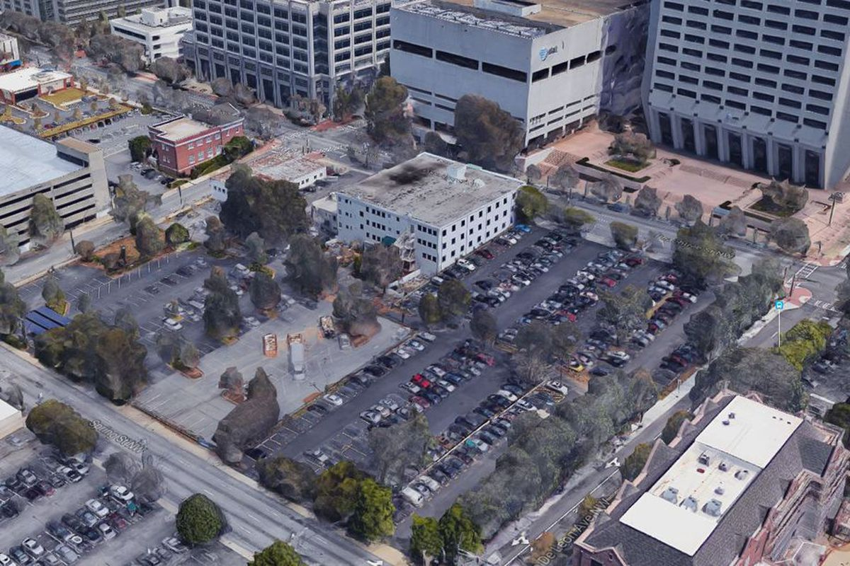 A parking lot in Midtown Atlanta that came up for sale last year.