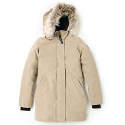 "<b>Canada Goose</b>, <a href=""http://www.shopbop.com/victoria-parka-canada-goose/vp/v=1/1585522048.htm?folderID=21484&fm=other-shopbysize-viewall&colorId=11841"">$695</a>"
