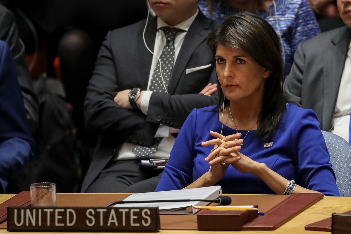UN Ambassador Nikki Haley is pushing back against Trump official Larry Kudlow's accusation that Haley had been confused when she announced new sanctions on Russia last Sunday.