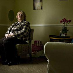 Melinda Oberhelman sits in her Pregnancy Resource Center of Utah Valley office in Orem.