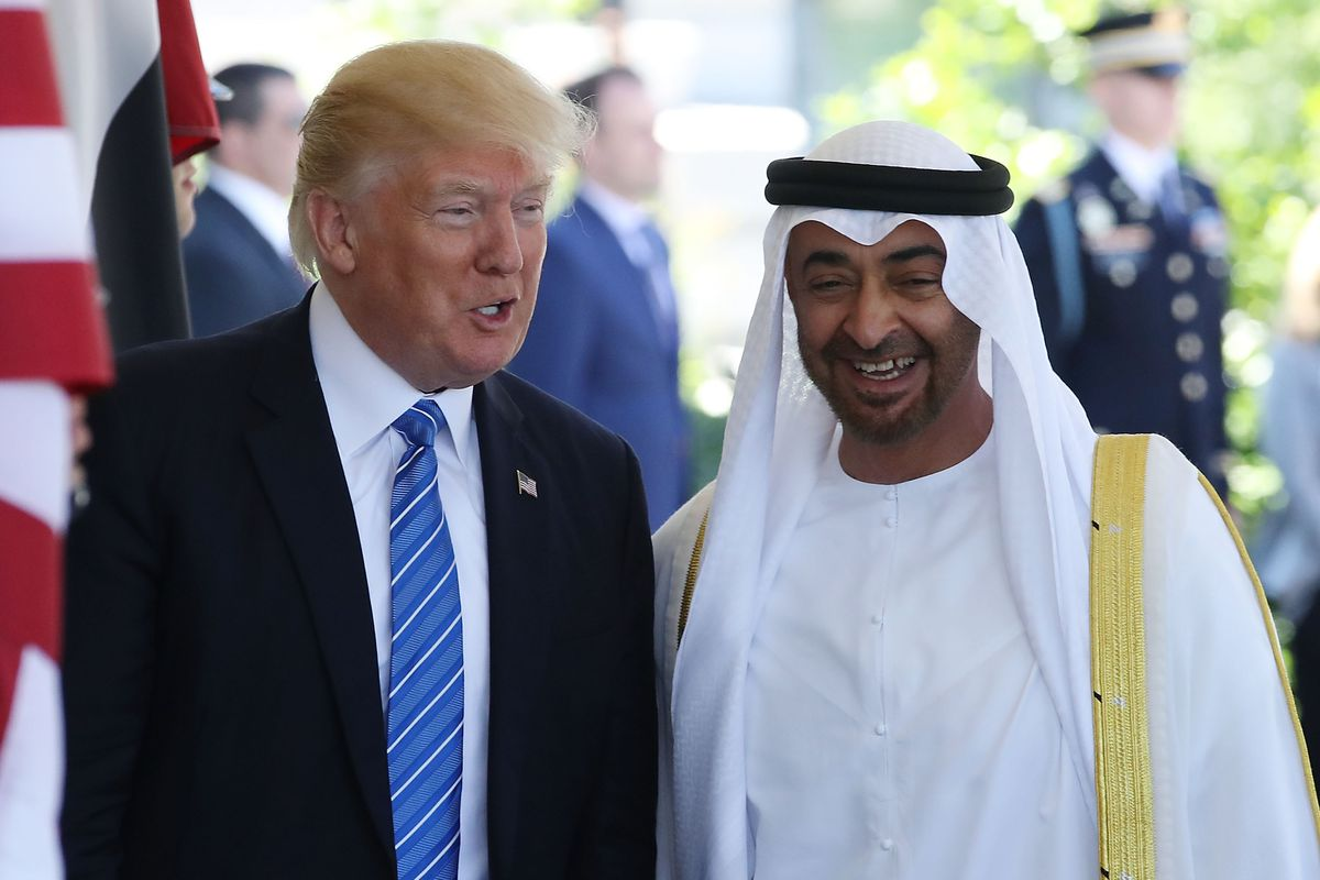 President Trump Hosts Crown Prince Of Abu Dhabi At The White House