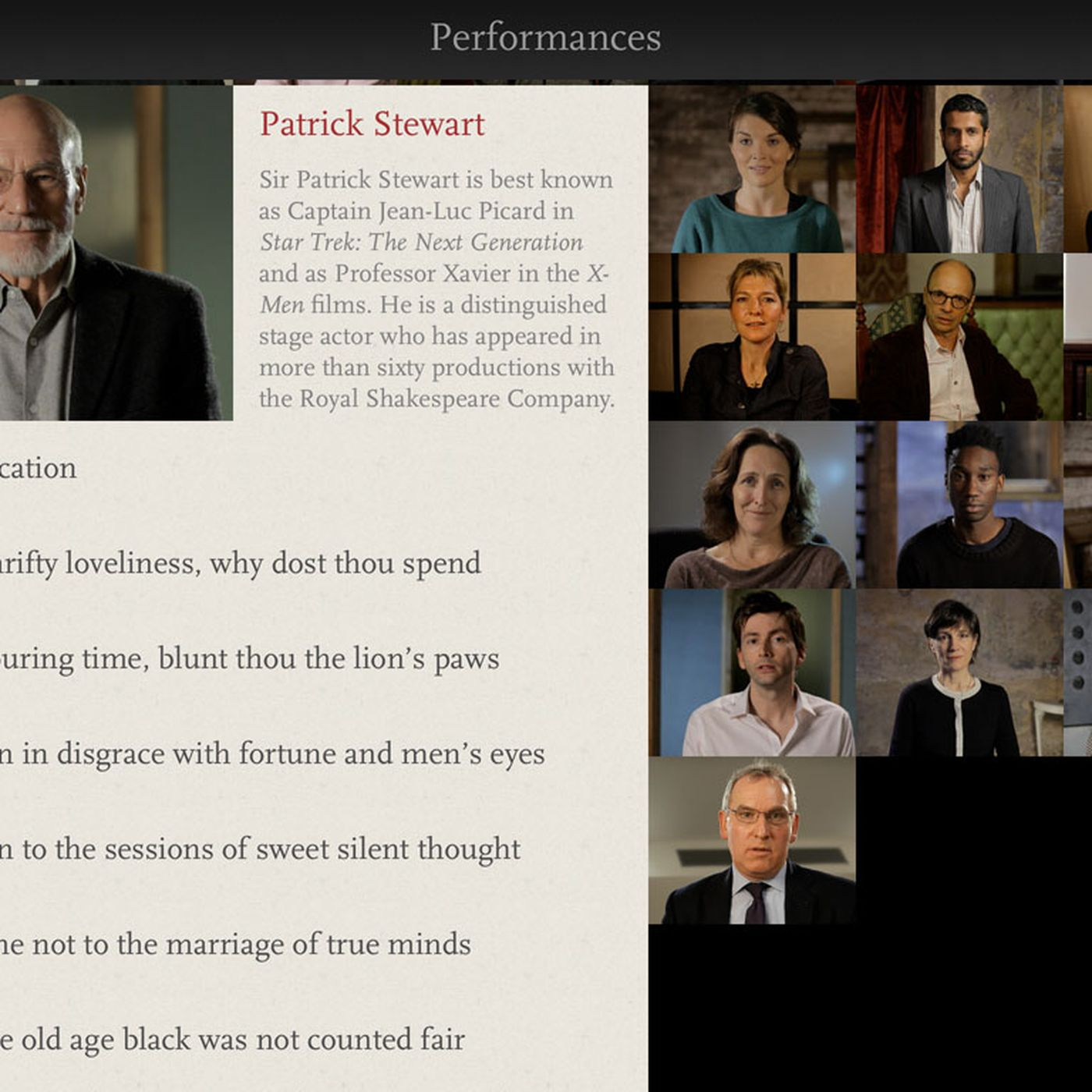 Digital, print, oral: Shakespeare's Sonnets for iPad brings