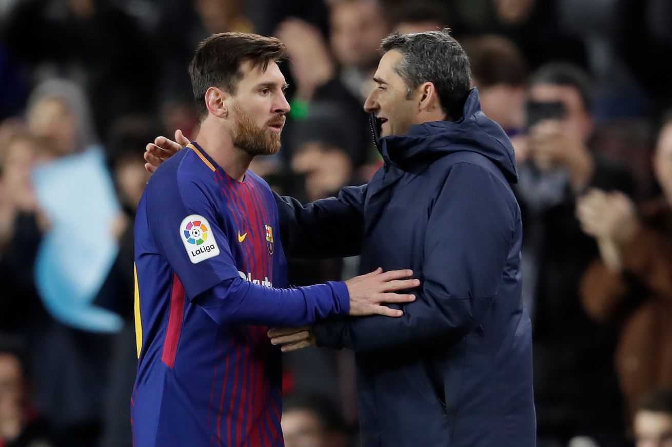 Messi, Suarez & Pique lead goodbyes to Valverde