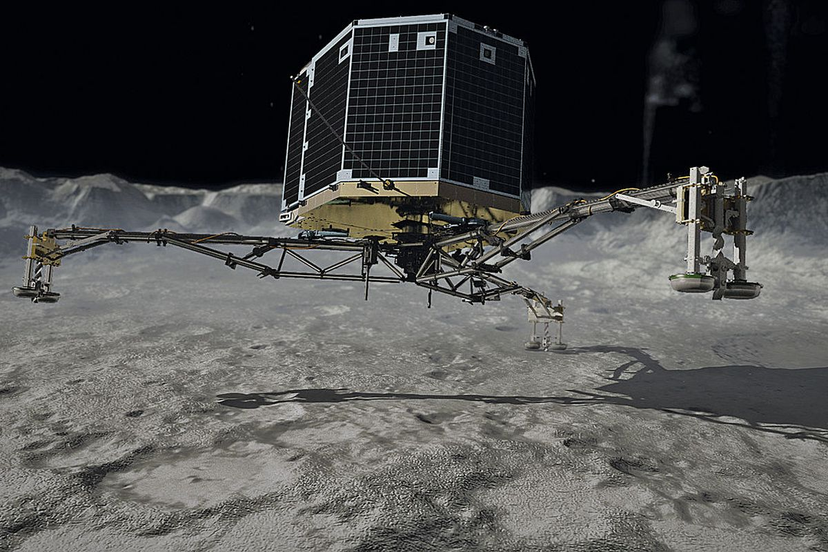 How Philae was supposed to land. It didn't turn out this way.