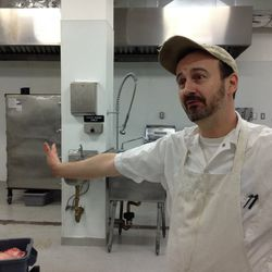 Jerome Petigand, Mile End sous chef and the only employee in the space on the day Bernamoff gave Eater a tour.