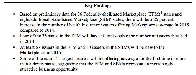 HHS key findings