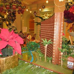 A side view of a gingerbread replica of Wynn Las Vegas and Encore Las Vegas. Photo: Susan Stapleton