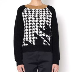 """<b>Phillip Lim</b> Fading Houndstooth Pullover, <a href=""""http://www.31philliplim.com/shop/category/womens/knitwear#fading-houndstooth-pullover"""">$375</a>"""