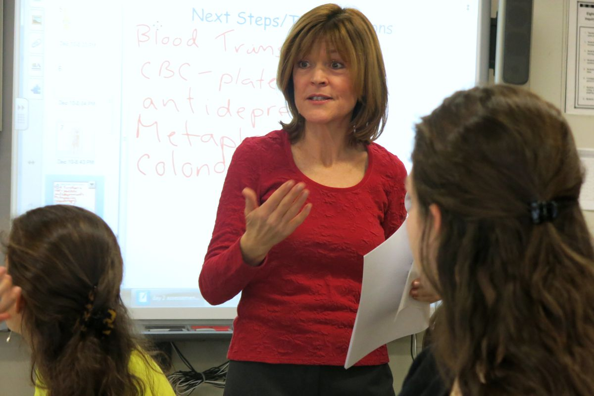 Theresa Dunlap Kutza has taught science at at Staten Island's New Dorp High School for the past 13 years.