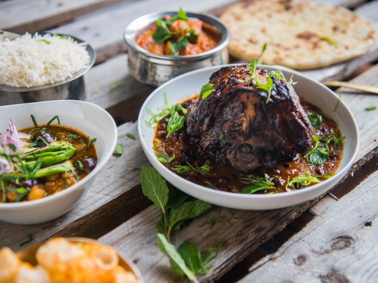 Indian feast at Ghee
