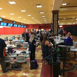 Broncos fans and bowling fans converged for Strikes For Kids Las Vegas.