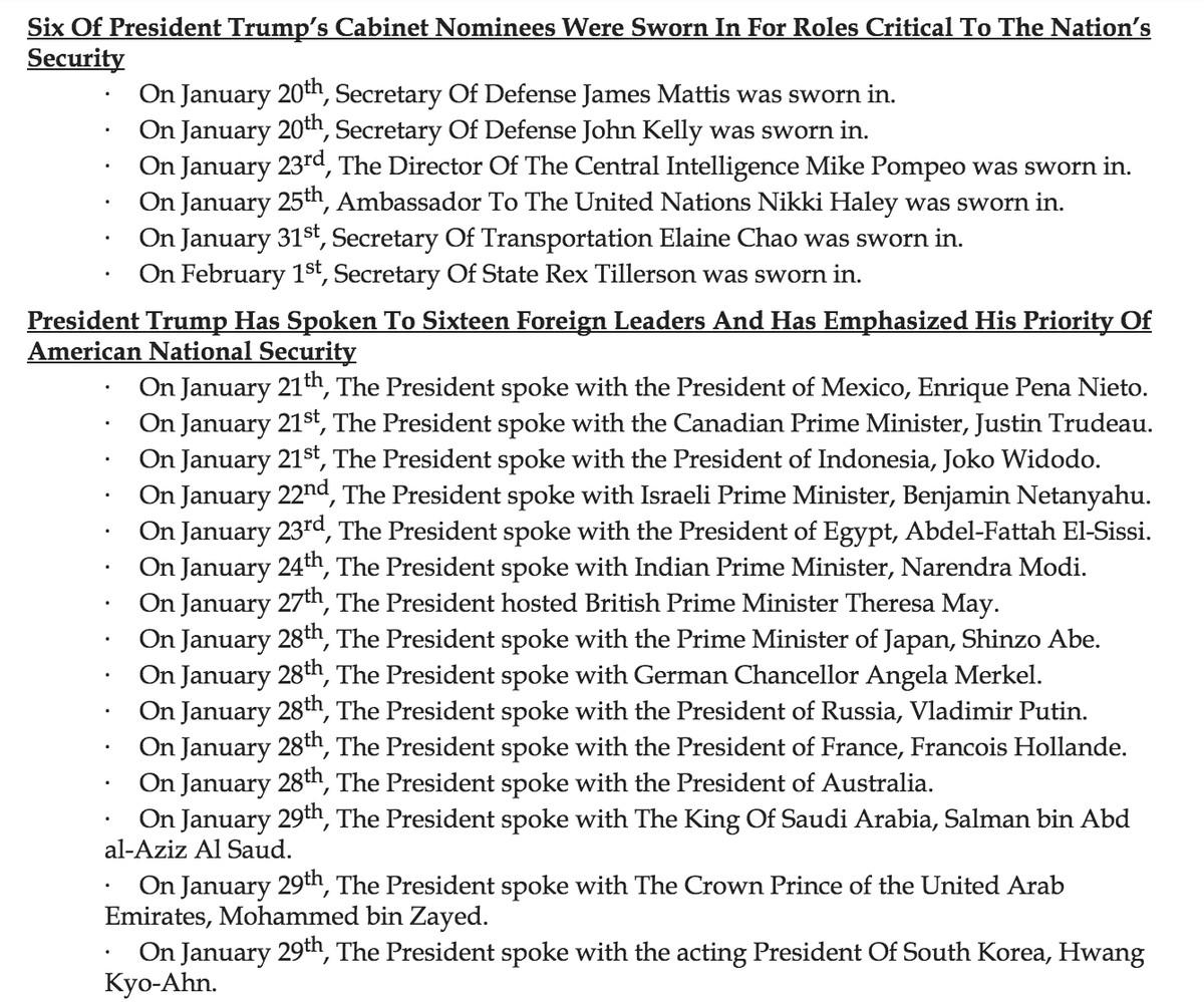 Trump fact sheet says America has 2 defense secretaries and