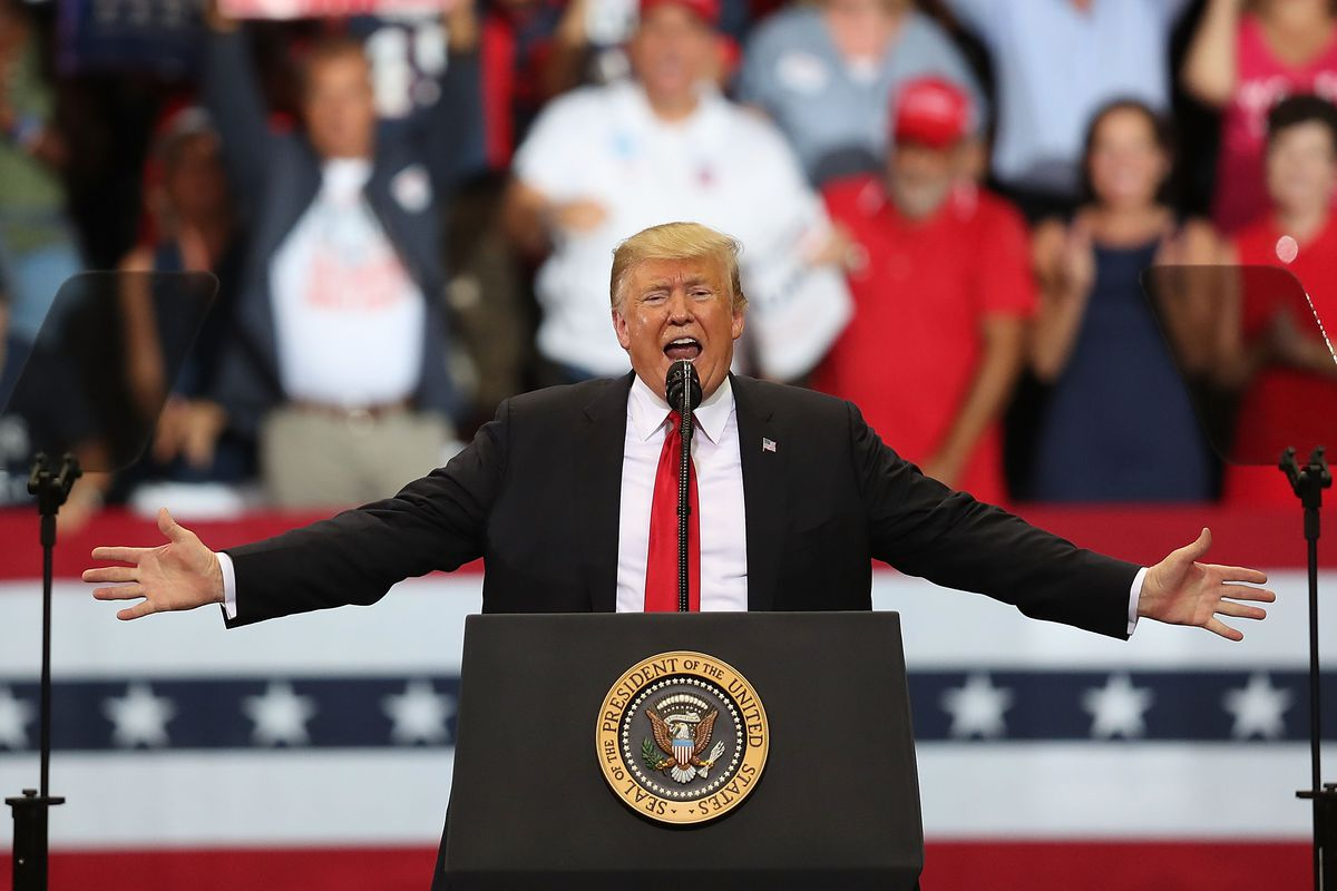 Donald Trump Hold MAGA Campaign Rally In Southwest Florida
