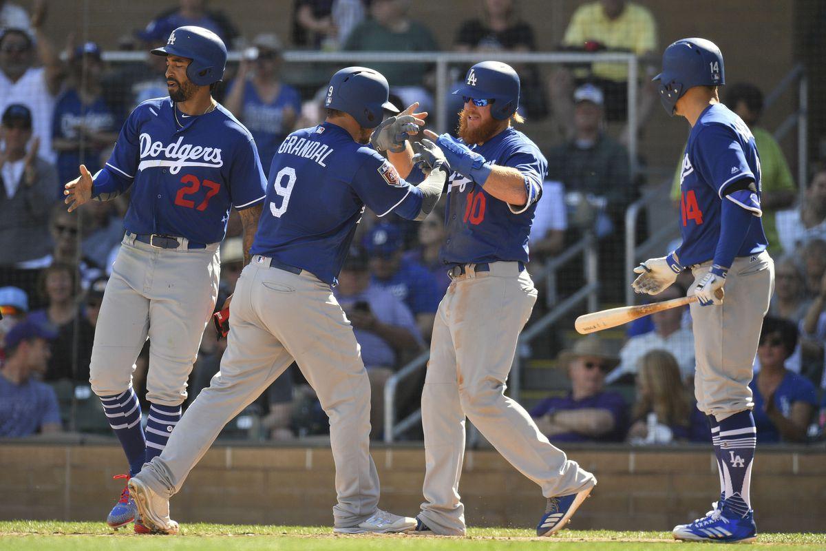 MLB: Spring Training-Los Angeles Dodgers at Colorado Rockies