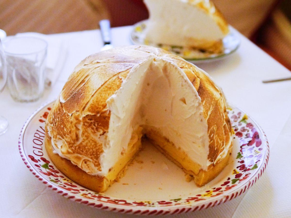 Gloria Italian restaurant from Big Mamma in Shoreditch: lemon meringue pie