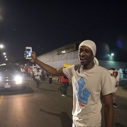 The march went between 79th Street and 83rd Street on Racine Avenue before heading east. | Colin Boyle/Chicago Sun-Times