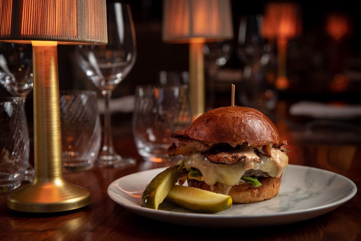 The cheeseburger at Bluebird London