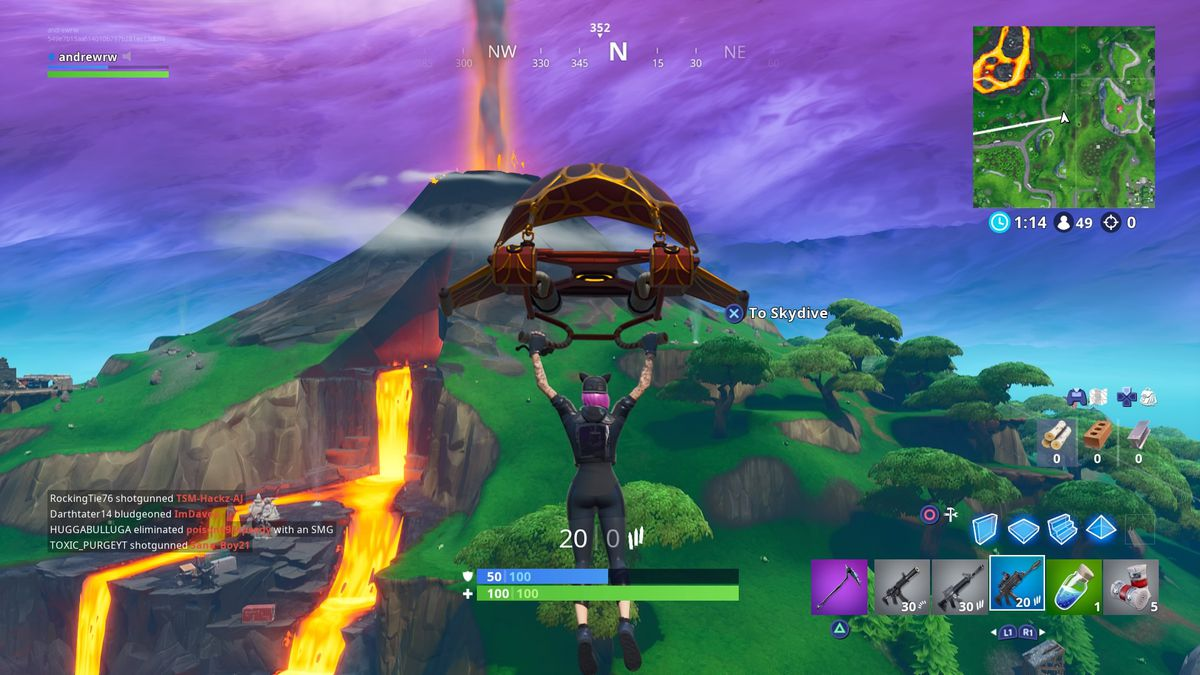 Fortnite's volcano is starting to erupt - The Verge