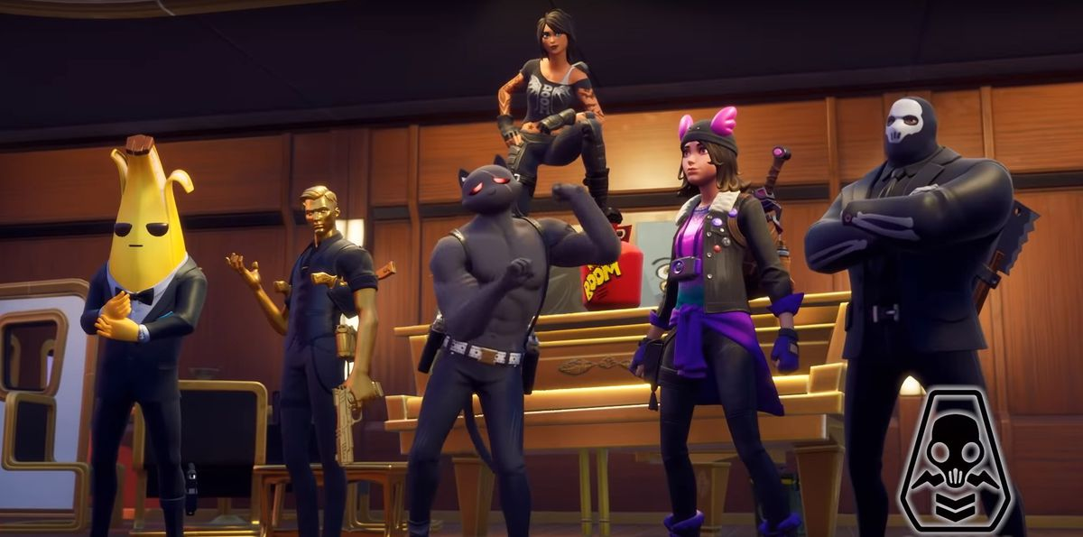 All of the Fortnite season 2 skins in their Shadow styles from the battle pass trailer