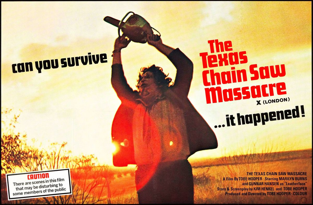 The London poster for The Texas Chain Saw Massacre
