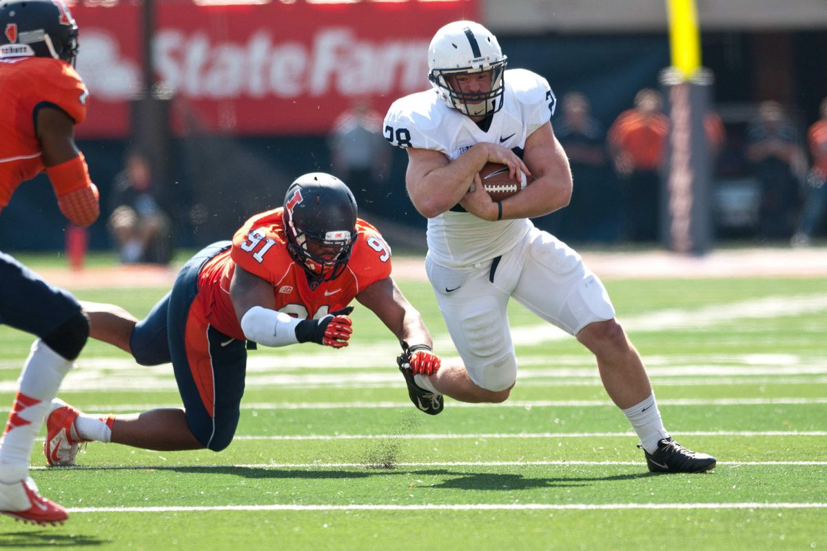 Zach Zwinak ran for 100 yards and two touchdowns in last year's matchup with Illinois