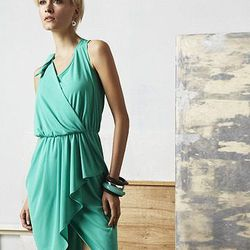Bow Tie Ruched Wrap Dress, $85.00