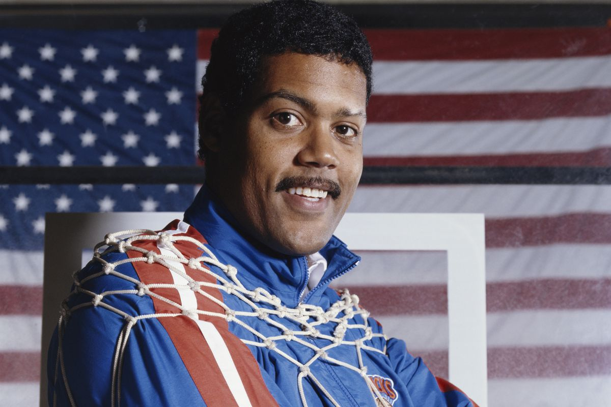 Stu Jackson, then head coach of the Knicks, poses in 1990. (The 90s were weird, man.)