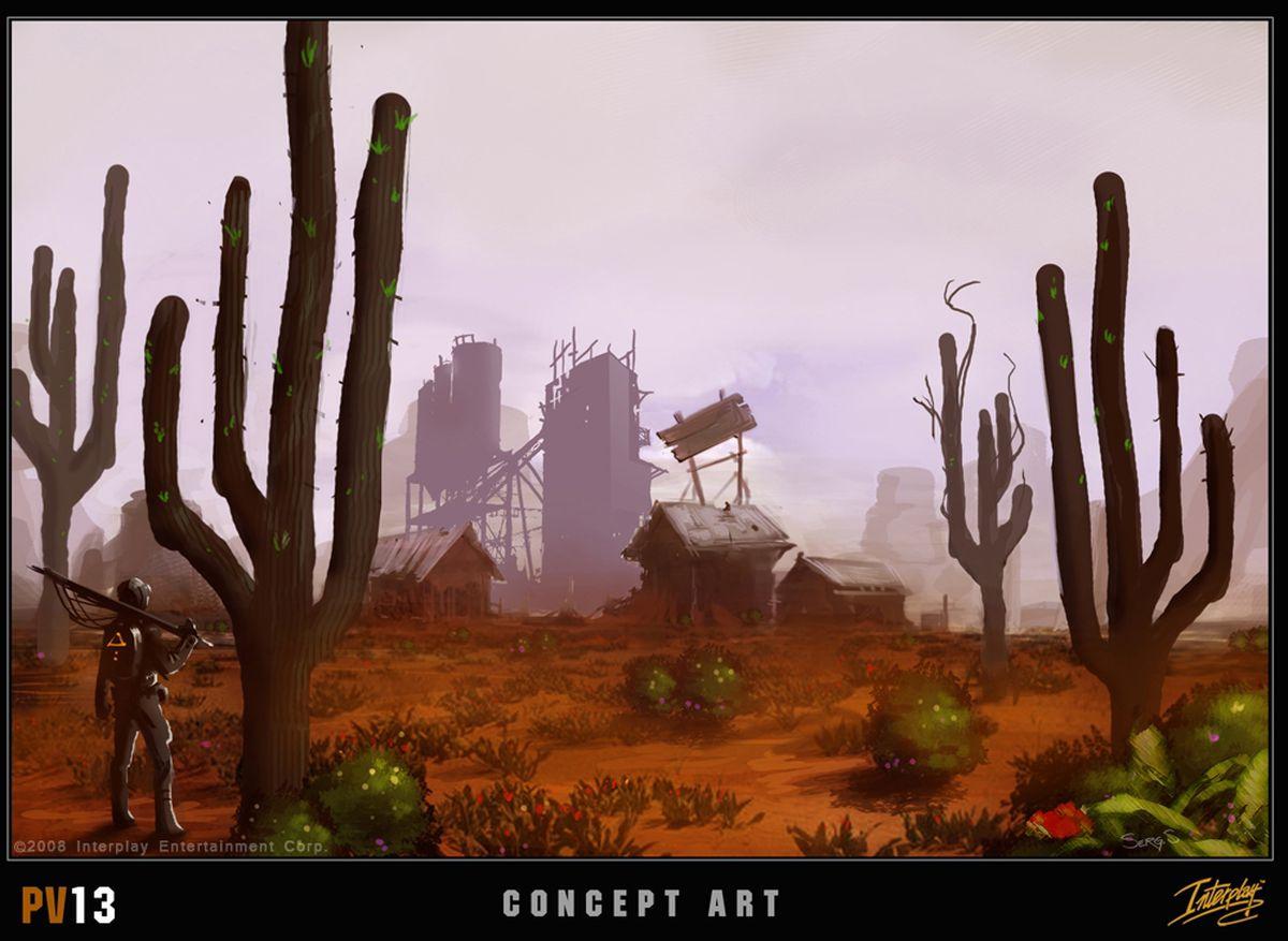 Project V13 concept art, desert landscape