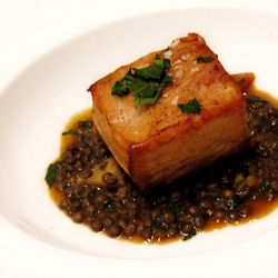 """[Berkshire Pork Belly from Le Cirque. By <a href=""""http://www.flickr.com/photos/wwny/10528827013/in/pool-eater/"""">wEnDaLicious</a>.]"""