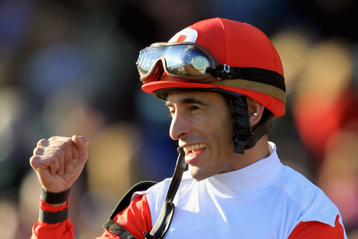 Johnny V celebrates another victory for the Ramseys while aboard Stephanie's Kitten