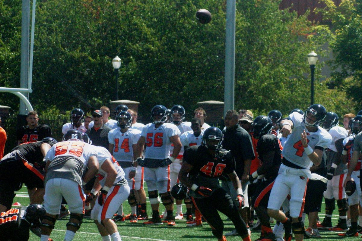 Week 2 of pre-season preparations at Oregon St. reached the mid-way point today.