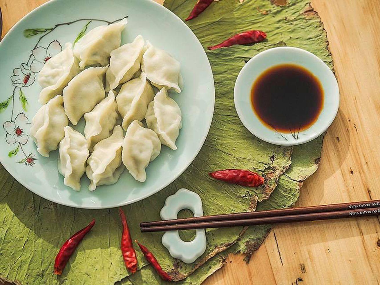Qing Xiang Yuan Dumplings are homemade.
