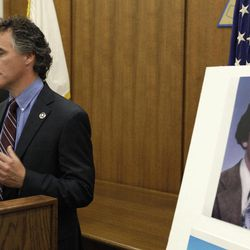 Cook County Sheriff Tom Dart speaks during a news conference accompanied by Detective Jason Moran, Thursday, Sept. 20, 2012 in Chicago, Ill. In an ongoing effort by the Cook County Sheriff's Office to identify the unidentified victims of John Wayne Gacy, the department was able to solve another unrelated cold missing person case. The body of Peoria Illinois native Daniel Raymond Noe, (in photo), who went missing 30 years ago was discovered on Mount Olympus in Utah and evidence has determined his disappearance and death are not connected to Gacy.