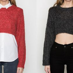 """And a cropped sweater for good measure: <strong>Cheap Monday</strong> Truncate Sweater in Fiery Red and in Black, <a href=""""http://www.shopacrimony.com/products/cheap-monday-womens-black-truncate-sweater"""">$52</a> (was $80) at Acrimony"""