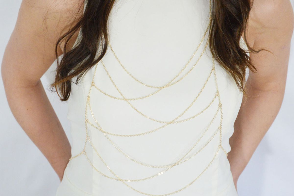 """Irina Victoria Tiered Body Chain, <a href=""""http://www.ivjewelry.com/Tiered-Body-Chain-p/ccbc02b.htm"""">$58</a> to <a href=""""http://www.ivjewelry.com/Tiered-Body-Chain-p/ccbc02.htm"""">$232</a>"""