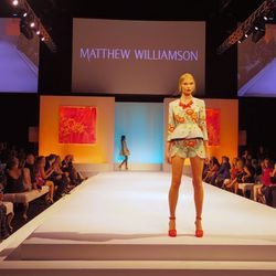 Runway show featuring Matthew Williamson's S/S 2014 collection at Elyse Walker's ninth annual Pink Party.