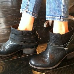 """""""These [H by Hudson] boots are incredibly comfortable, well made, and perfectly mix rugged with city chic,"""" says Ahn."""