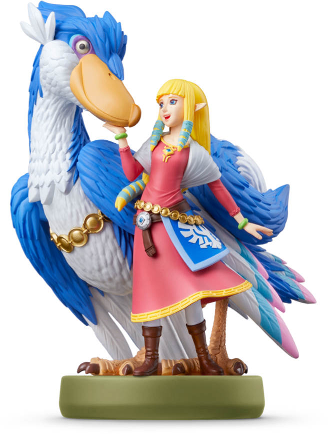 A product shot of the Zelda & Loftwing amiibo
